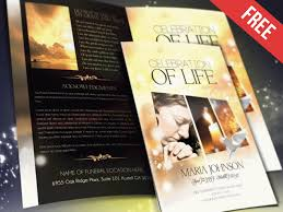 Funeral Program Brochure Template Celebration Of Life By