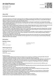 Building Home Inspector Resume Sample Ready To Use Example