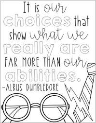 Harry Potter Quotes Coloring Pages