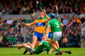 john conlon of clare in action against mike casey of limerick 3 during the