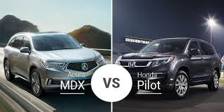 Honda Ridgeline Model Comparison Chart Acura Mdx Vs Honda Pilot Same Platform Distinct Differences