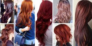 red hairstyles and red hair color shades