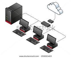 diagram simple wired network broadband modem stock vector diagram of a simple wired network a broadband modem gateway a network switch
