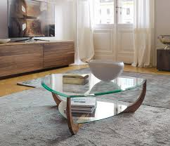 high end glass coffee table