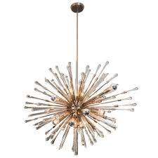 beautifully detailed custom glass teardrop sputnik chandelier for
