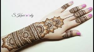 Henna Art 7 Beautiful Floral Mehendi Design With Pearl Effect Dots Skaur1n0nly