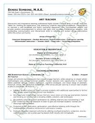 art teacher resume sample page 1 education resume templates