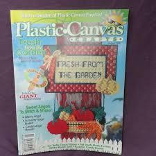 plastic canvas crafts august 1998 garden angels wreath pet photo frames