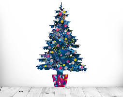 Small Picture Evie Kemp Blue Christmas Tree YOUR DECAL SHOP NZ Designer Wall