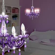 crystal chandelier light Ø460mm purple lamp lamp light