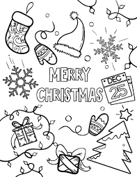 Free Printable Merry Christmas Coloring Pages Holiday Coloring