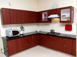 Admirable L Shaped Kitchen Designs With Brown Kitchen Cabinet Also