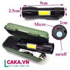 Đèn pin siêu sáng ,mini nhỏ gọn , kim loại nhuôm , 2 loại đèn xpe và cob,siêu  sáng,sạc cổng usb 5 v, có móc kim loại dễ cài.có video.