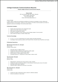 Resume Templates Examples College Graduate Resumes Of High School