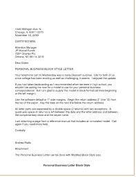 Personal Business Letter Format Essayoutlinetemplateorg Abbcv In
