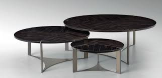stainless steel furniture designs. This Trio Of Tables By Fendi Highlights Veneered Macassar Ebony Perched Atop A Stainless Steel Base Finished In Polished Chrome. Furniture Designs N