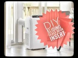 how to make a sliding glass door insert for a portable air conditioner