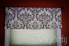 quick easy lined valance