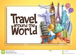 Tourism Banner Design Travel And Tourism Vector Background Banner Design With