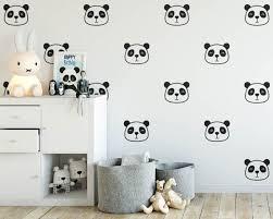 Panda Wall Decals   Nursery Decals, Cute Panda Face Decals, Vinyl Wall  Decals, Kids Room Decals, Wall Stickers