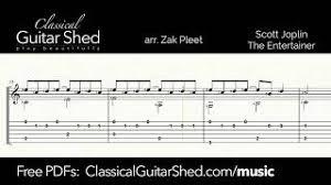 The entertainer is a 1902 classic piano rag written by scott joplin. The Entertainer Free Classical Guitar Sheet Music Scott Joplin