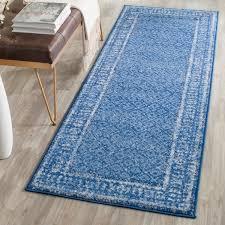 popular of blue runner rug with safavieh adirondack vintage light blue dark blue runner rug 26