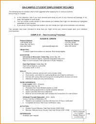 Cover Letter Objective For Resume College Student Resume Example