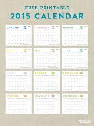 Free Printable 2015 Calendar Todays Creative Life