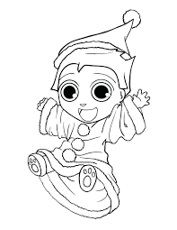 Cute Elf On The Shelf Coloring Pages Printable A Stealth Pa