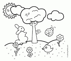 Images Coloring Pages Spring New Coloring Pages For Spring With Free