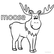 Small Picture Printable Moose Coloring Pages For Kids Cool2bKids