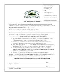 Snow Removal Bid Template Landscape Installation Contract Template