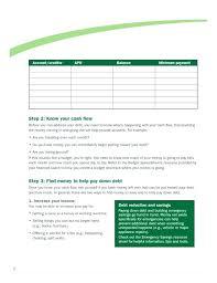 Debt Reduction Plan Spreadsheet Elisabethnewton Com
