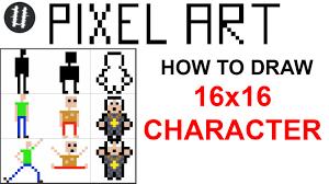 Pixel Character Template How To Pixel Art Tutorials 6 Draw 16x16 Character