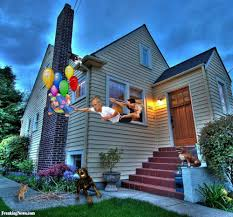 Up House Balloons Escaping House With Balloons Pictures Freaking News