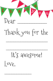 Blank Thank You Notes Free Fill In The Blank Thank You Cards Thank You Card