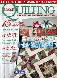 McCall's Quilting — Sharon Holland Designs & McCall's Quilting November/December 2015 Adamdwight.com