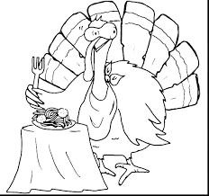 Happy Thanksgiving Turkey Coloring Pages Fall And Of Turkeys Home
