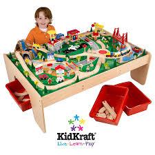 toy train table sets kidkraft metropolis set waterfall mountain piece l a full size