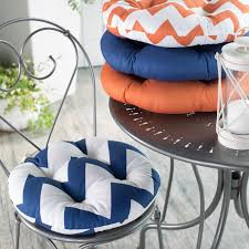 charming bistro chair cushions for your bistro chair decor round white blue chevron bistro chair