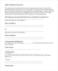 Sample Employment Contract Agreement Draft Of Template – Bonniemacleod