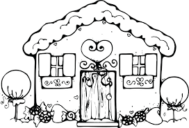 Coloring Pages Of A House Free Printable House Coloring Pages For