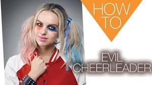 evil cheerleader halloween how to makeup tutorial