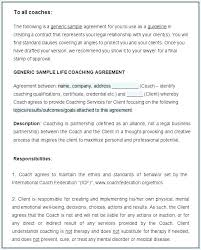 sample contract agreement executive coaching agreement template contract sample tools download