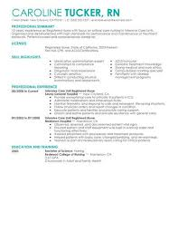 Registered Nurse Resume Templates Amazing Best Intensive Care Unit Registered Nurse Resume Example LiveCareer