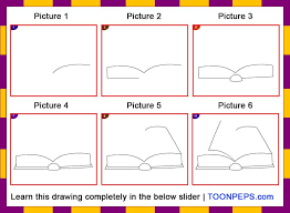 step by step drawing books for kids how to draw a book step step