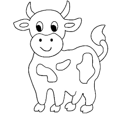 Small Picture Cute Little Cow Coloring Page NetArt