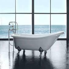 acrylic clawfoot tub acrylic chrome slipper tub in white