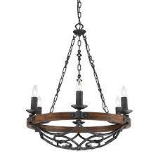 golden lighting madera black iron six light chandelier hover to zoom