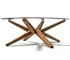 wood base glass top coffee table elegant round glass coffee table wood base with interior home